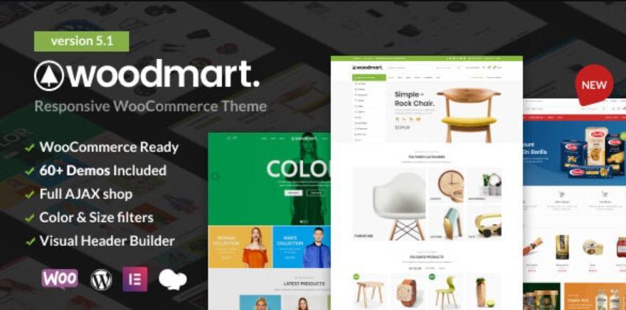 Giao diện wordpress bán hàng WoodMart