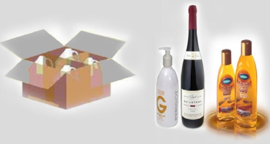 Quy trình đóng gói hàng hóa chai lọ chứa chất lỏng