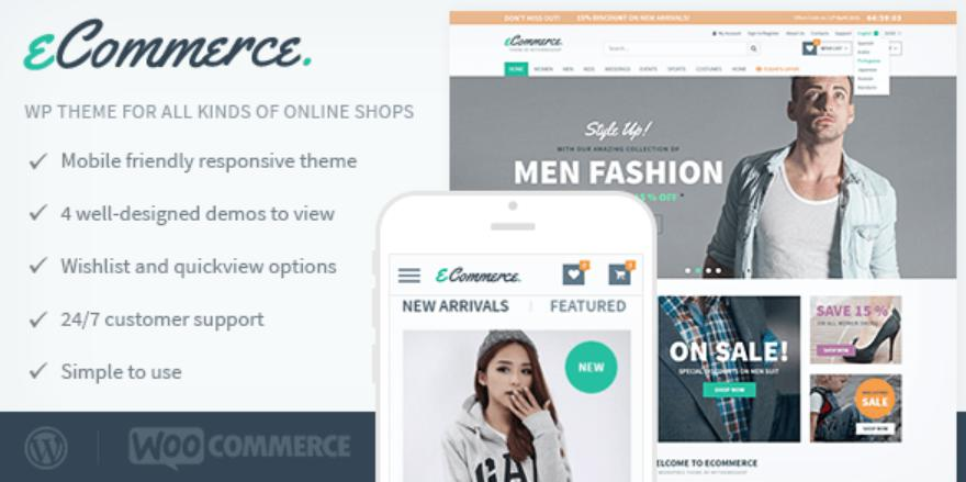 theme wordpress bán hàng eCommerce